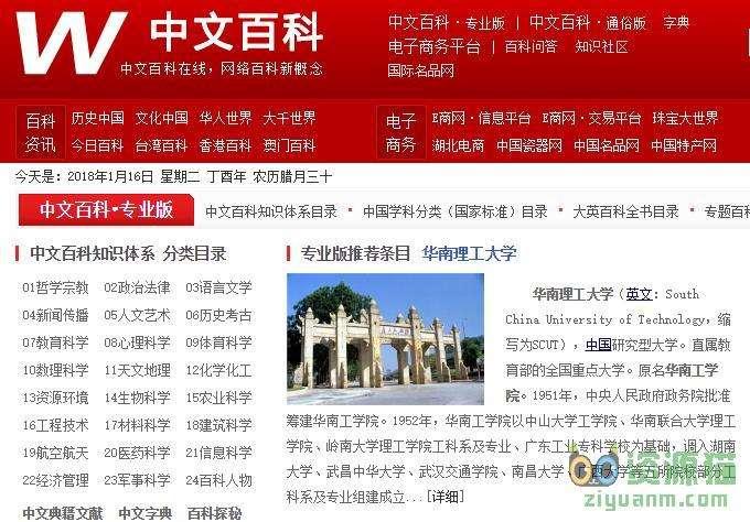 中文百科-网络百科新概念