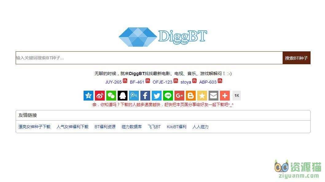 DiggBT-免費的BT種子搜索神器