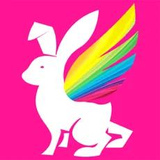 彩虹兔logo图标